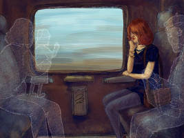 Asleep on the Ghost Train by enonea