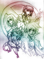 Group Sketch by m-t-copyright