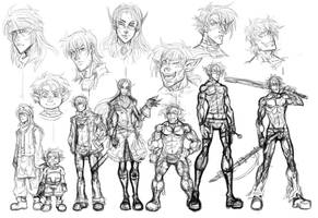 Male Characters Lineup by m-t-copyright