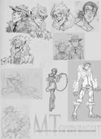 Pokemorph Sketch Dump by m-t-copyright