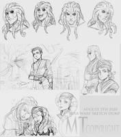 Star Wars Sketch Dump by m-t-copyright