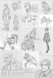 RoughWork Sketch Dump by m-t-copyright