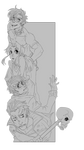 Crowded Bookmark by m-t-copyright