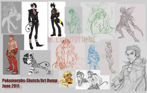 PokeMorph- Sketch Dump June by m-t-copyright
