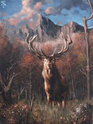 Mus Manetu (Elk Spirit) by a-by-aa
