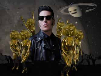 Joe Sparks Golden Swarm Saturn Moon 1 by joesparks