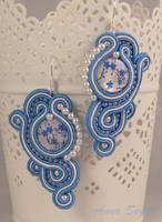 soutache in blue by khetra
