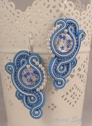 soutache in blue by khetra