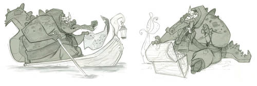 Croc Sketches by Jtown67
