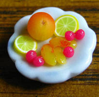 Sliced Peaches by fairchildart