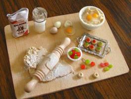 Cherry Thumbprint Cookies by fairchildart