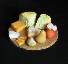 Cheeses and Fruit by fairchildart