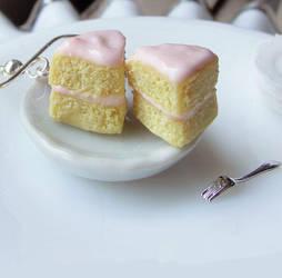 Cake Slice Earrings by fairchildart