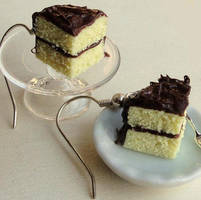 Chocolate Frosted Cake Slices by fairchildart
