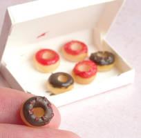 Messy Doughnuts by fairchildart