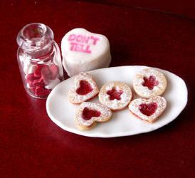 1:12 Scale Linzer Cookies by fairchildart