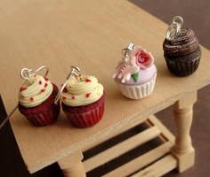 Cupcake Jewelry by fairchildart