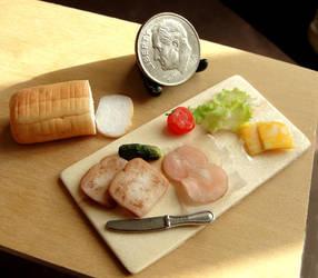 Dollhouse Sandwich Prep Board by fairchildart
