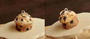 Blueberry Muffin Pendant by fairchildart