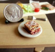 1 12 Scale Lasagna by fairchildart