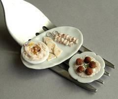 1:12 Scale Lebanese Cuisine by fairchildart