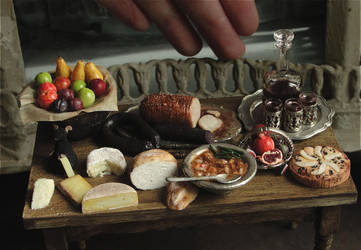 1:12 Scale Medieval Fare by fairchildart