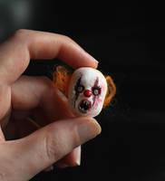 Miniature Clown Mask by fairchildart