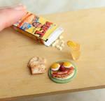 Pee Wee's Breakfast by fairchildart