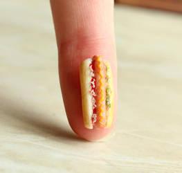 1:12 Scale Hot Dog by fairchildart