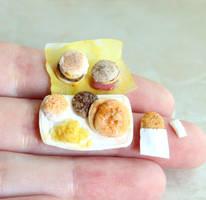 Little Big Fast Food Breakfast by fairchildart
