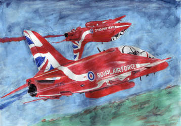 Red Arrows by bawdrysinger