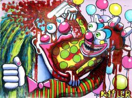 Clown Barfs Clown by ckoffler