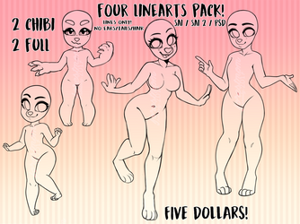 Pack of 4 lineart bases : $5 | 500 points by byamby