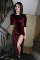 Red Velvet Dress by Mezuki111