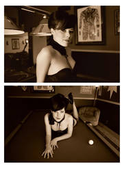 madame of the pool hall by candeecampbell