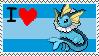 Vaporeon Stamp by EeveeQueenJigglypuff