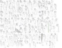 massive sketch dump 1 by negai boshi on deviantart Bo Shi BA D'un