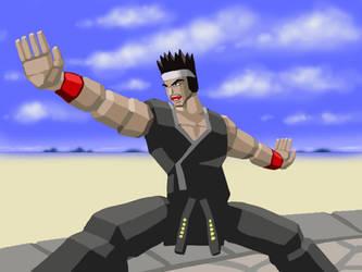 Virtua Fighter Akira by funkyninjamagic