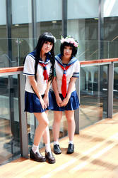 Railgun - Kazari and Ruiko by kumakuku