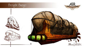 Air Steampunk_Cargo Barge by timegate