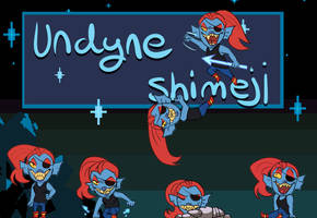 Undyne Shimeji by Flipgang