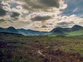 The Black Mount seen from Rannoch Moor by EyeOfTheKat