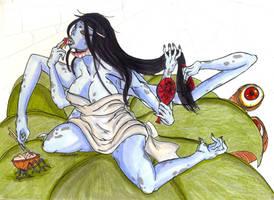 Okami Humans -Spider Queen- by Clytemnon