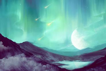 Northern lights by Daisy-Flauriossa