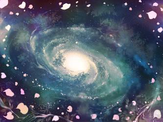 Galaxy forest by Daisy-Flauriossa