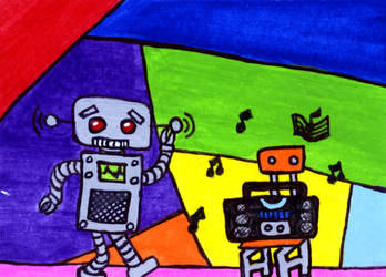 ACEO -'He Can Feel The Beat' by ieatmousetraps