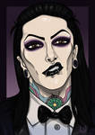 Chris Motionless Cartoonized by Chrystall-Bawll