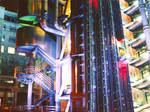 Lloyds building by night. by Nicoll