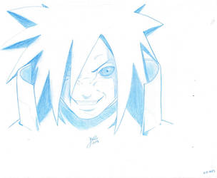 Uchiha Madara Sketch by javss
