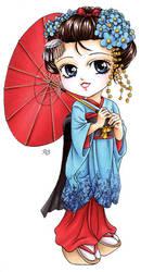Chibi Maiko by Petey-Winter